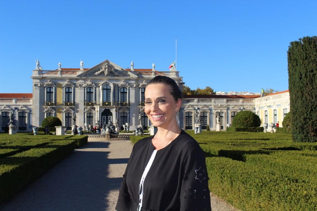 Uma aula de História no Palácio de Queluz, em Portugal